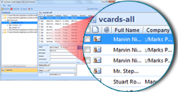 vCard Import function